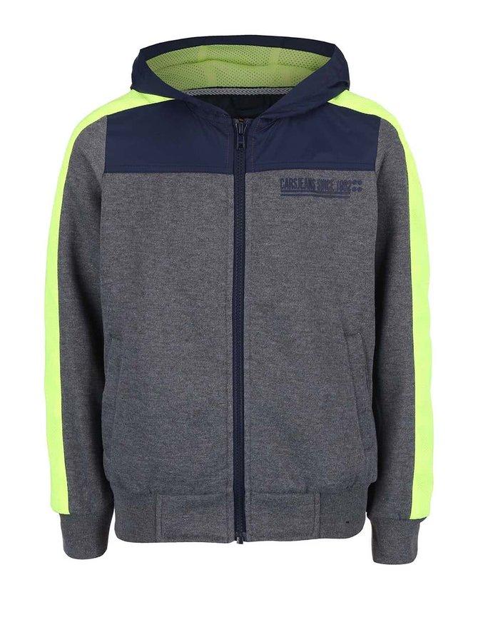 Sivá chlapčenská bunda s kapucňou Cars Jeans Spucca