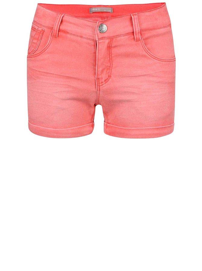 Korálové holčičí džínové šortky name it Siribelle