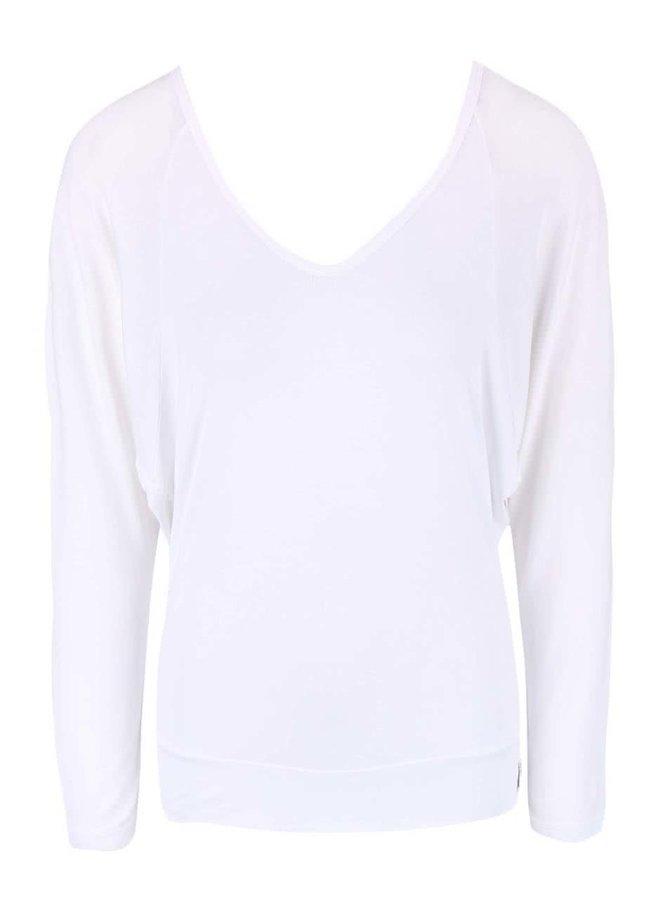 Biele tričko s odhaleným chrbtom DEHA