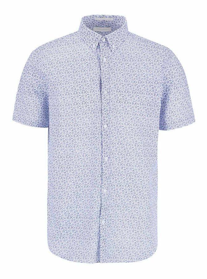 Biela vzorovaná košeľa s krátkym rukávom Tailored & Originals Orford