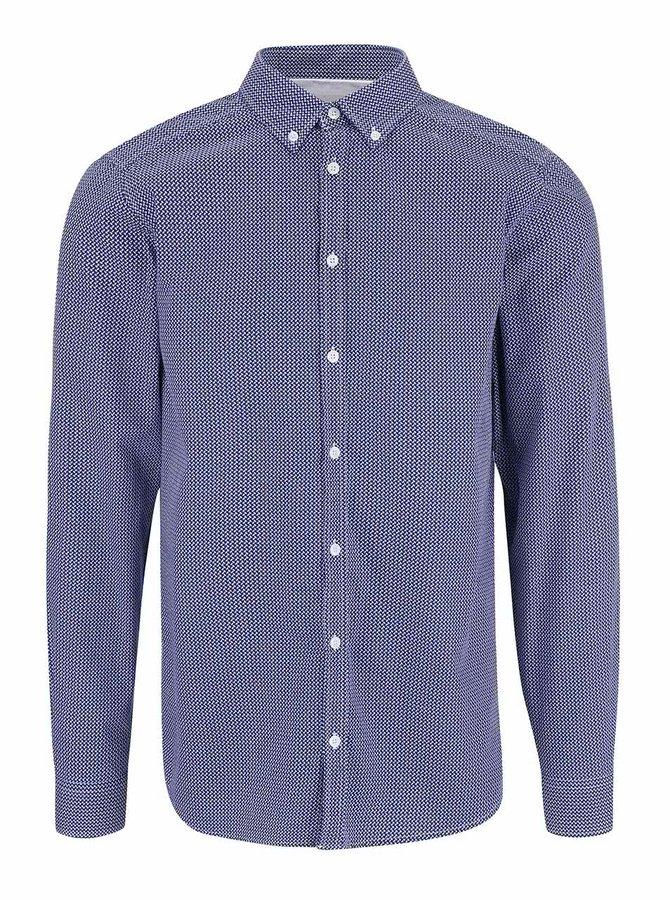 Cămașă Tailored & Originals Ramsey albastră cu model