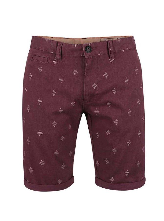 Pantaloni scurți Blend vișinii cu model
