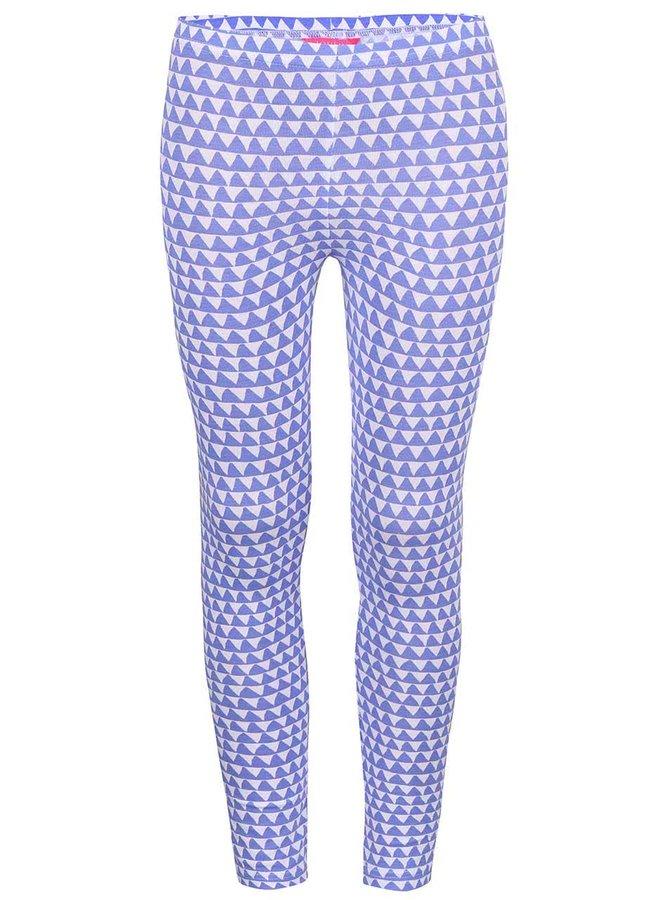 Modré dievčenské legíny so zig zag vzorom Tom Joule Deedee