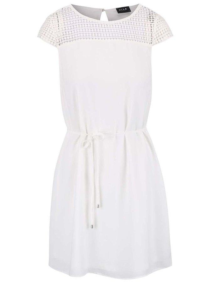 Krémové šaty VILA Vani