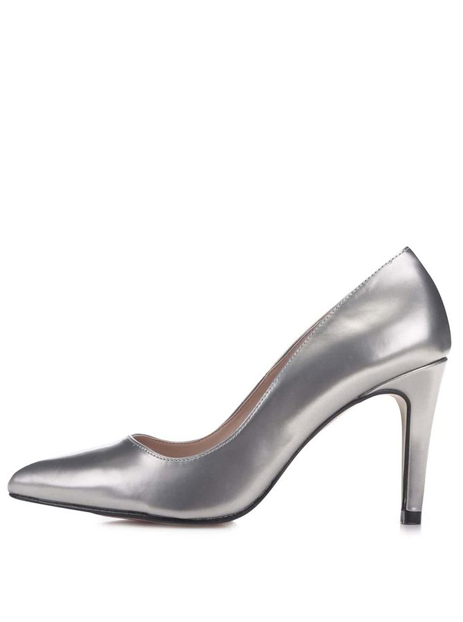 Pantofi cu toc OJJU argintii