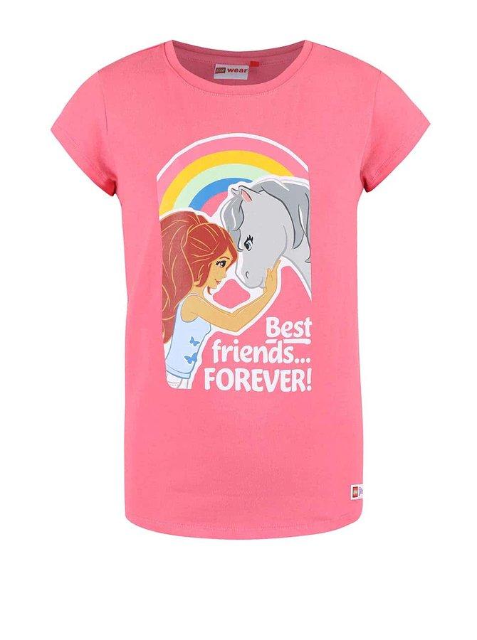 Ružové dievčenské tričko LEGO Wear Tamara