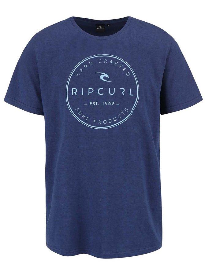 Modré pánské slim fit triko s potiskem Rip Curl Zinc