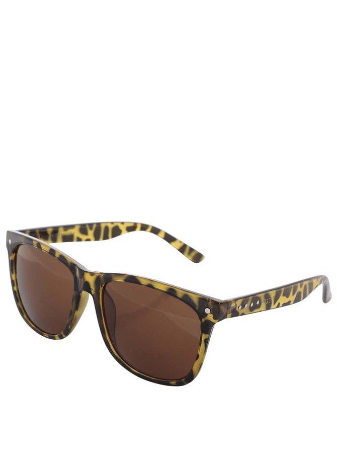 Žlté korytnačkovité slnečné okuliare Jack & Jones Jack