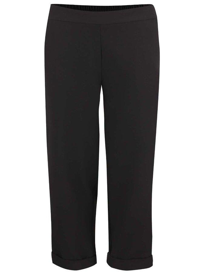 Černé formální tříčtvrteční kalhoty Dorothy Perkins Petite