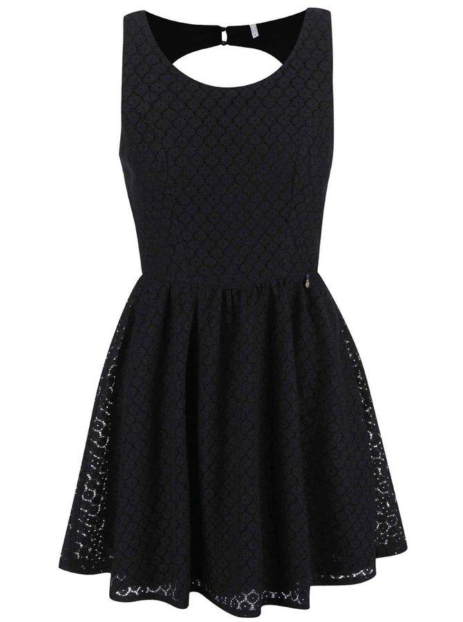 Černé krajkové šaty ONLY Line Fairy