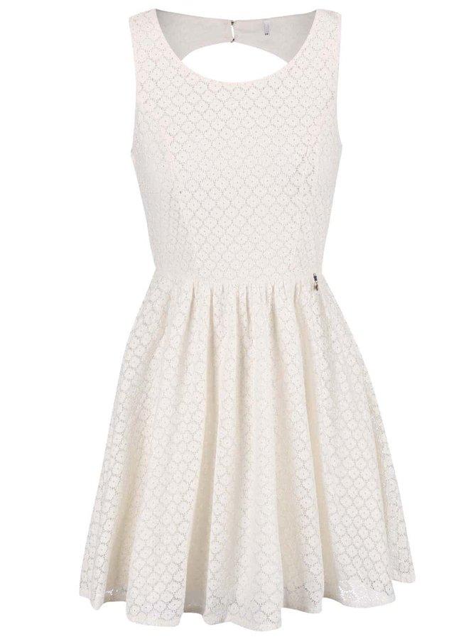 Krémové krajkované šaty ONLY Line Fairy