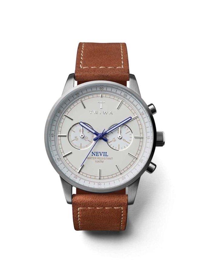 Hnedé pánske kožené hodinky TRIWA Nevil