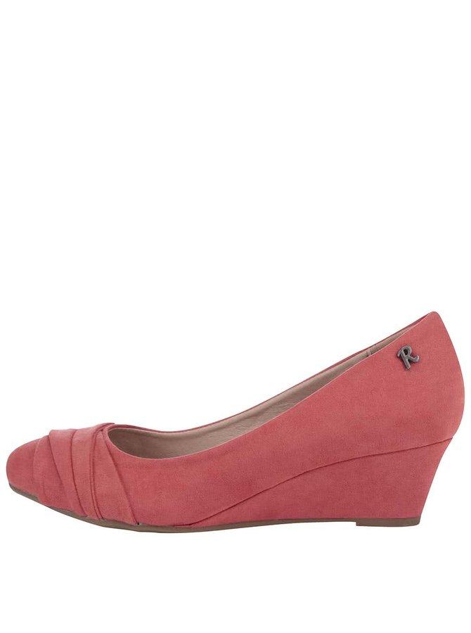 Koralové topánky na klinovom podpätku Refresh