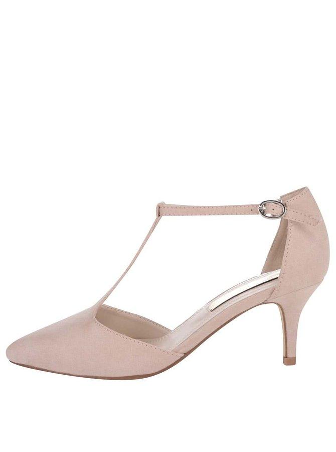 Krémové sandálky na středně vysokém podpatku podpatku Xti