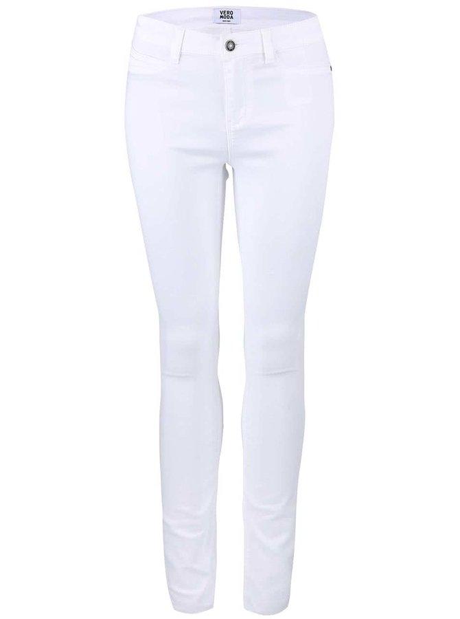 Bílé elastické džíny VERO MODAy Flex
