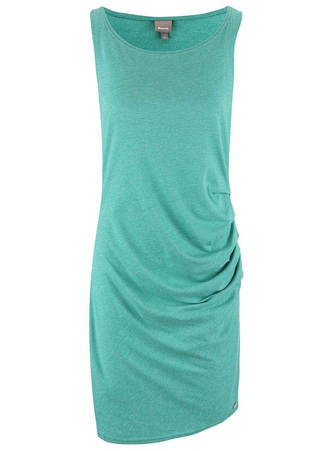 Zelené šaty s řasením Bench Distinction