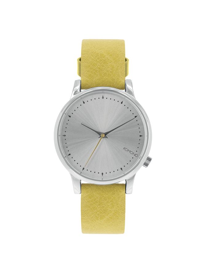 Limetkové kožené dámske hodinky Komono Estelle Lime Flower