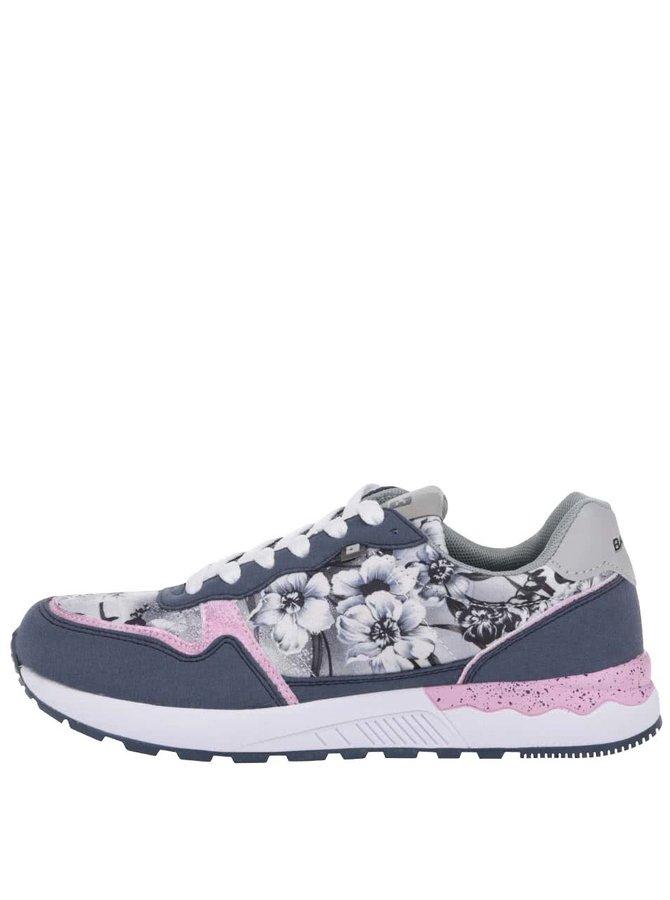 Pantofi sport Bassed albaștri cu imprimeu