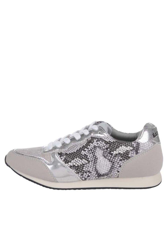 Dámské vzorované tenisky v šedo-stříbrné barvě Bassed