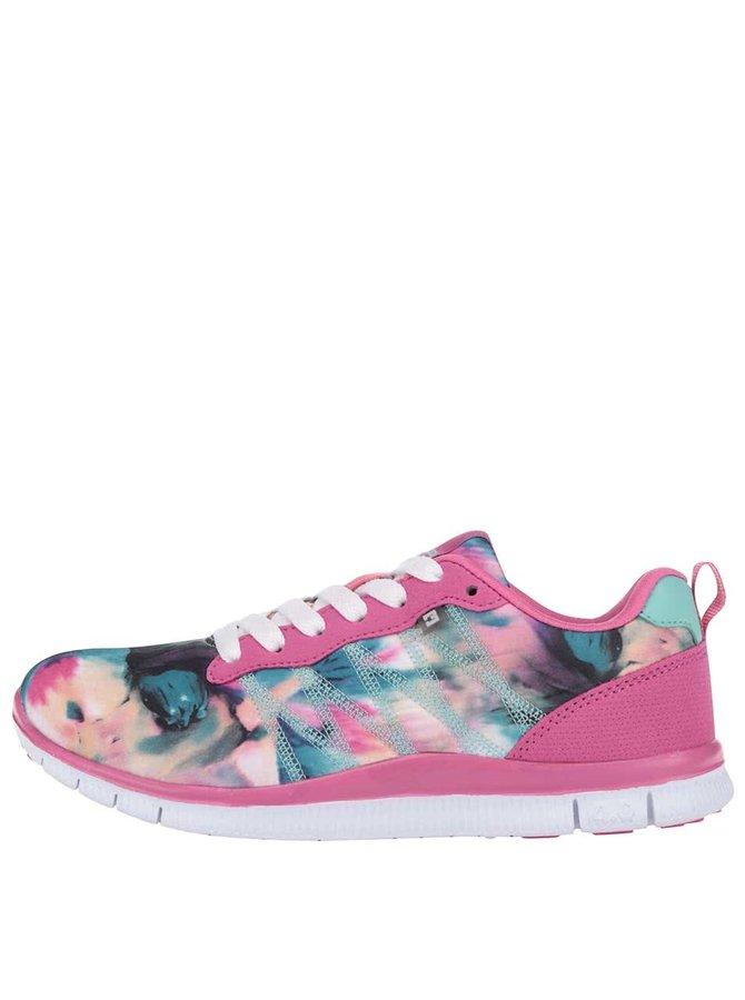 Pantofi sport Bassed roz cu imprimeu