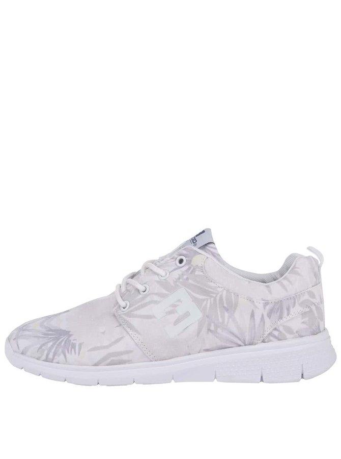 Biele dámske kvetované tenisky Bassed
