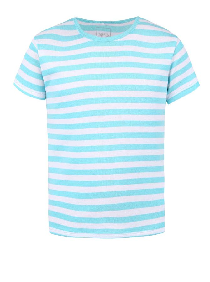 Svetlomodré chlapčenské pruhované tričko name it Villy