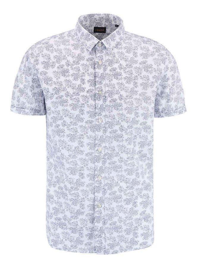 Modro-bílá vzorovaná košile s krátkým rukávem !Solid Cadell