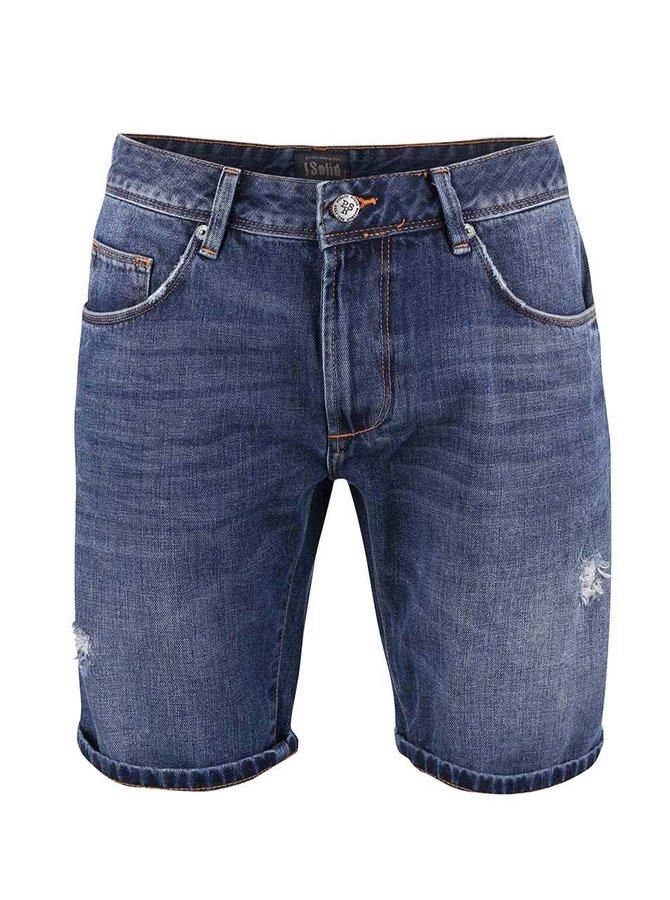Pantaloni scurți !Solid Lt Rov albaștri din denim