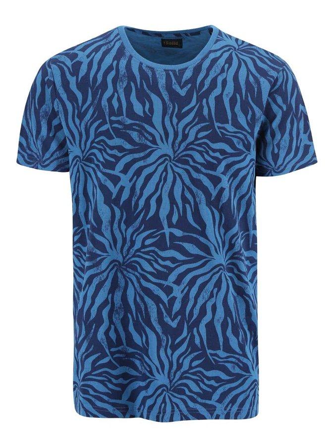 Tricou albastru cu imprimeu !Solid Calen