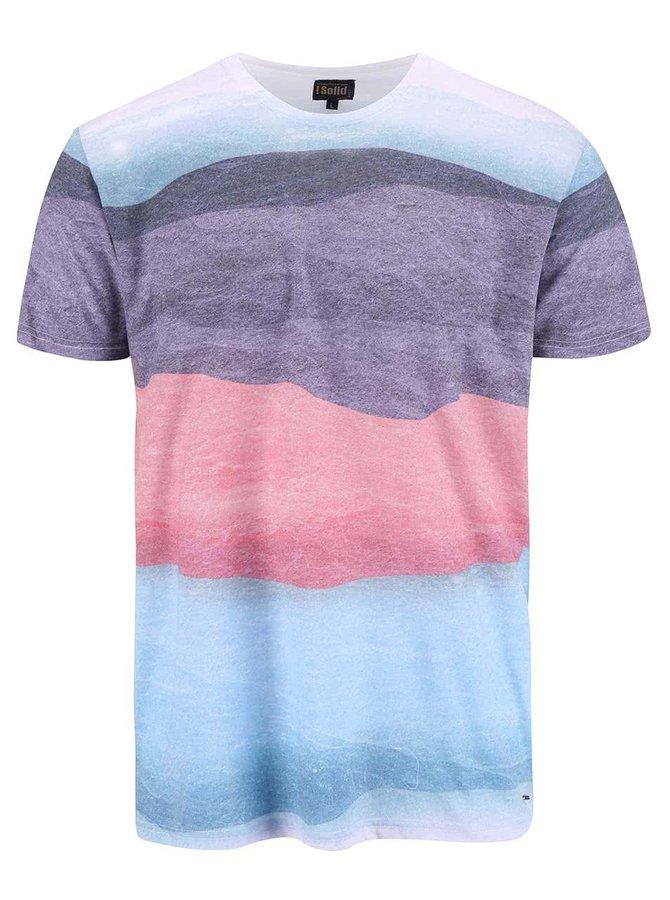 Modré pruhované tričko !Solid Balbo
