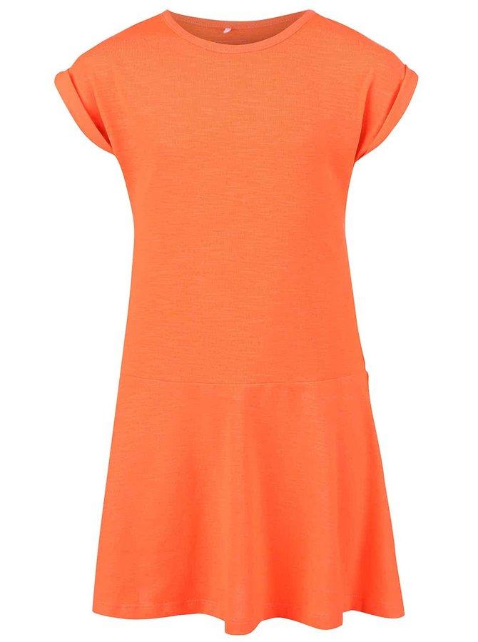 Svítivě oranžové holčičí šaty name it Havita