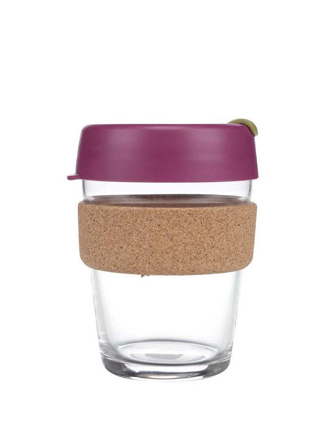 Designový cestovní skleněný hrnek KeepCup Brew Cinnamon Cork Medium