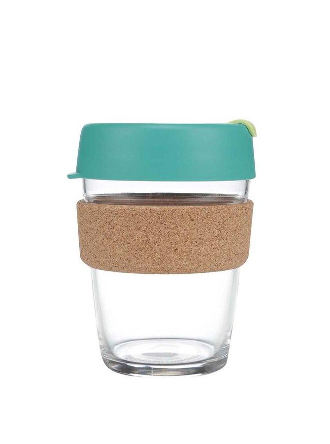 Dizajnový cestovný sklenený hrnček KeepCup Brew Thyme Cork Medium