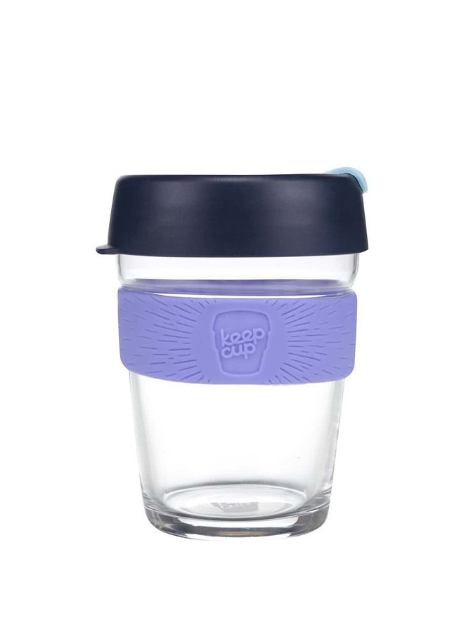 Dizajnový cestovný sklenený hrnček KeepCup Brew Cabernet Medium