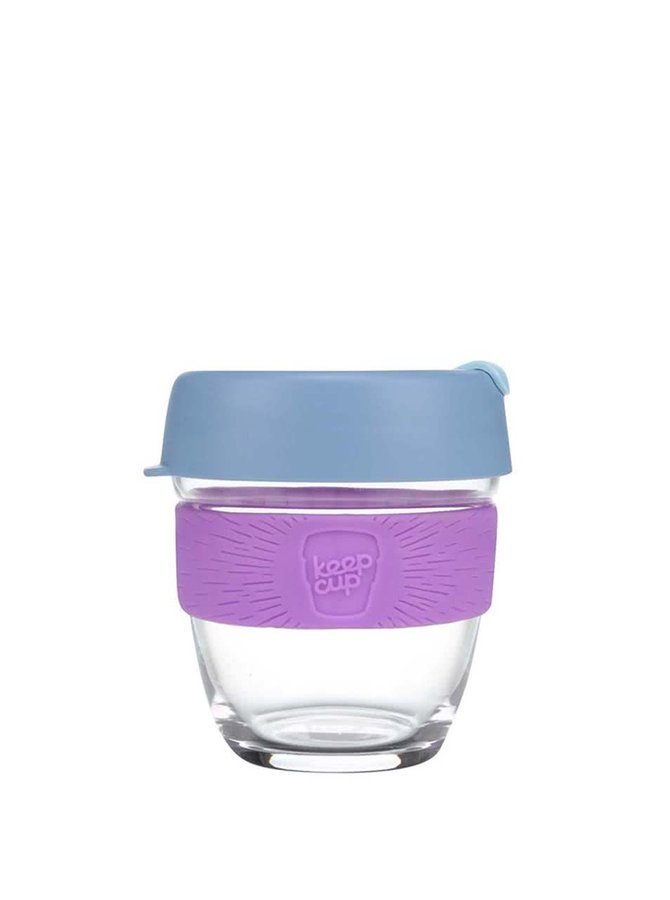 Dizajnový cestovný sklenený hrnček KeepCup Brew Lavender Small