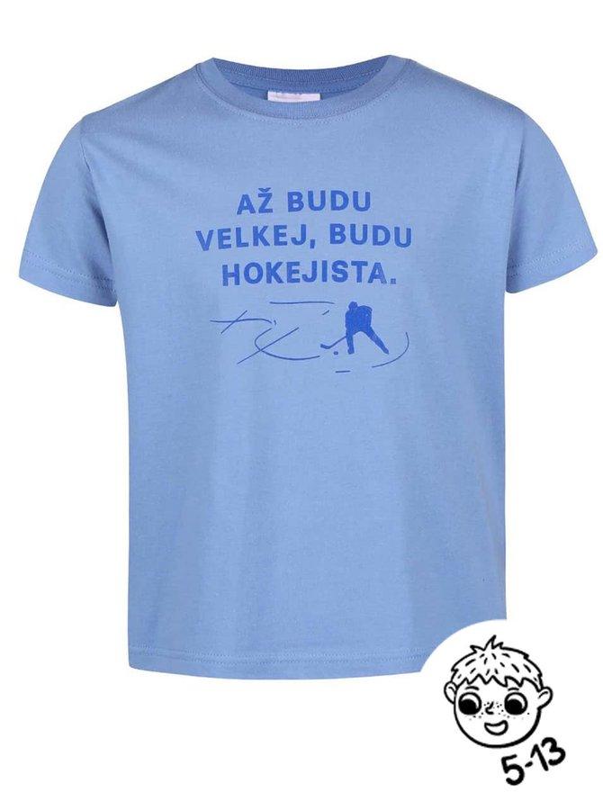 Světle modré klučičí tričko ZOOT Kids Budu hokejista