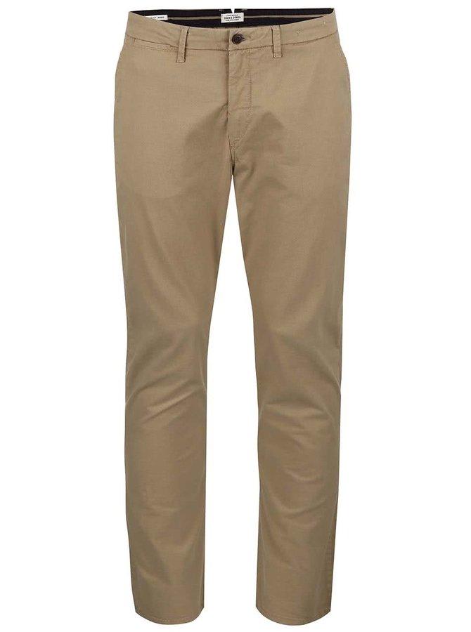 Béžové chuno nohavice so vzorom Jack & Jones Marco