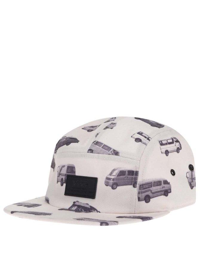 Șapcă Vans crem cu print