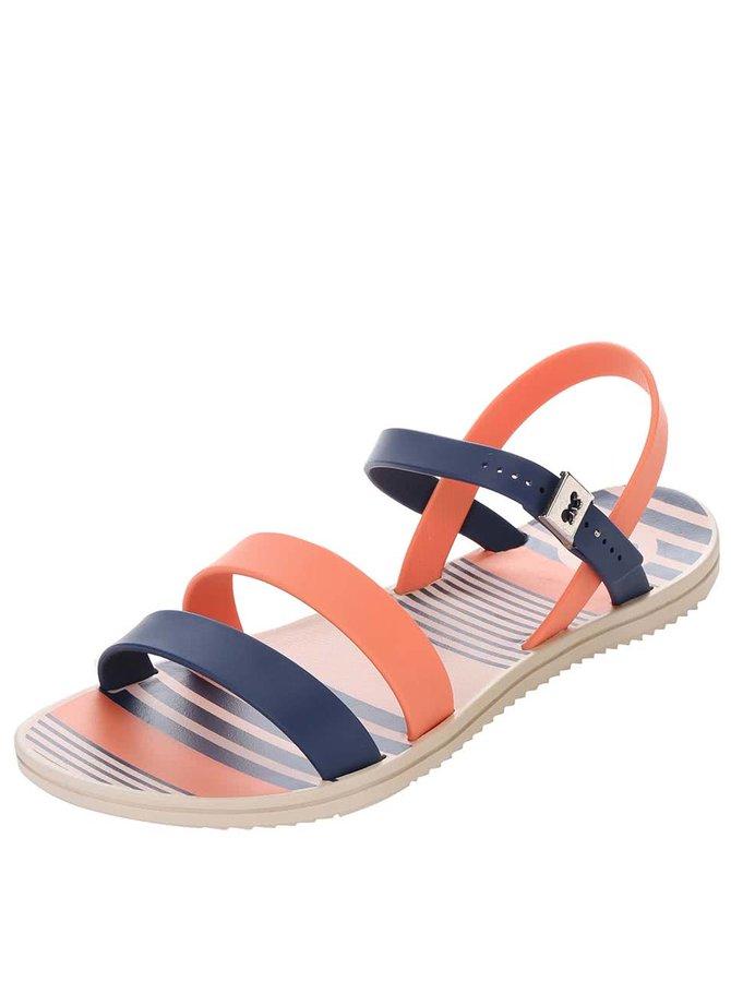 Oranžovo-modré plastové sandálky Zaxy Fashion Urban Sandal