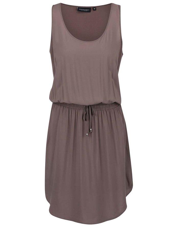 Sivohnedé šaty Broadway Ezra