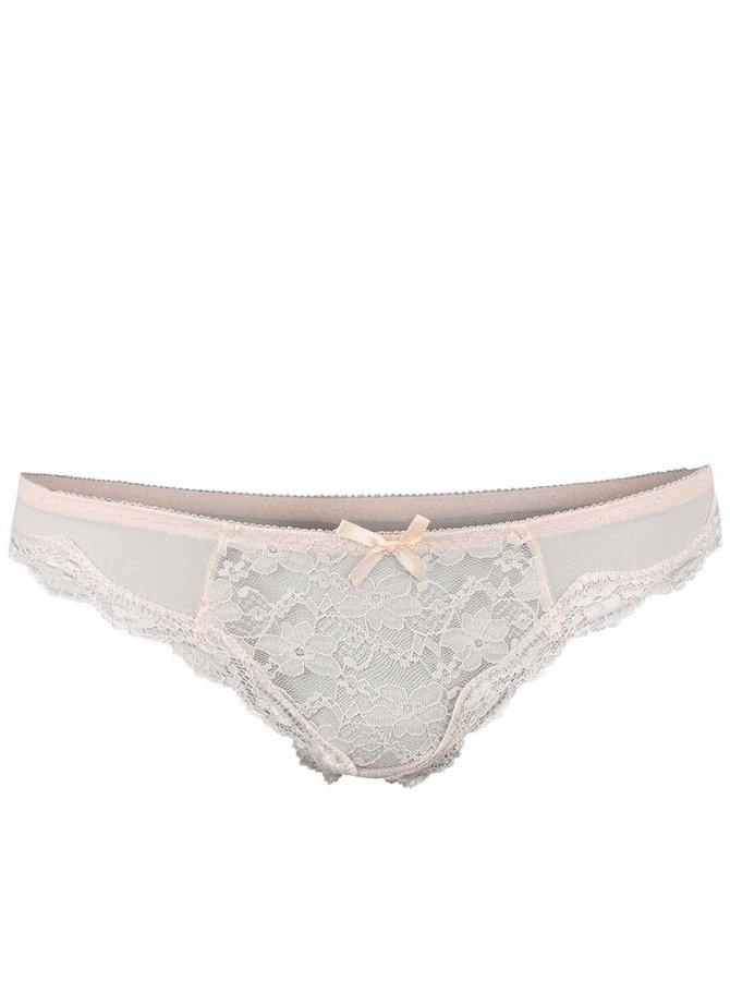 Světle růžové string kalhotky ICÔNE Audrina