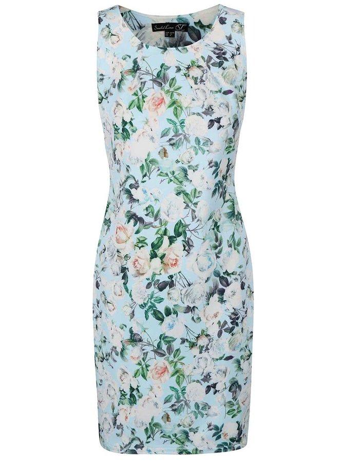 Mentolové kvetinové šaty Smashed Lemon