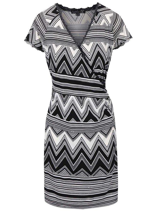 Čierno-biele šaty so vzorom Smashed Lemon