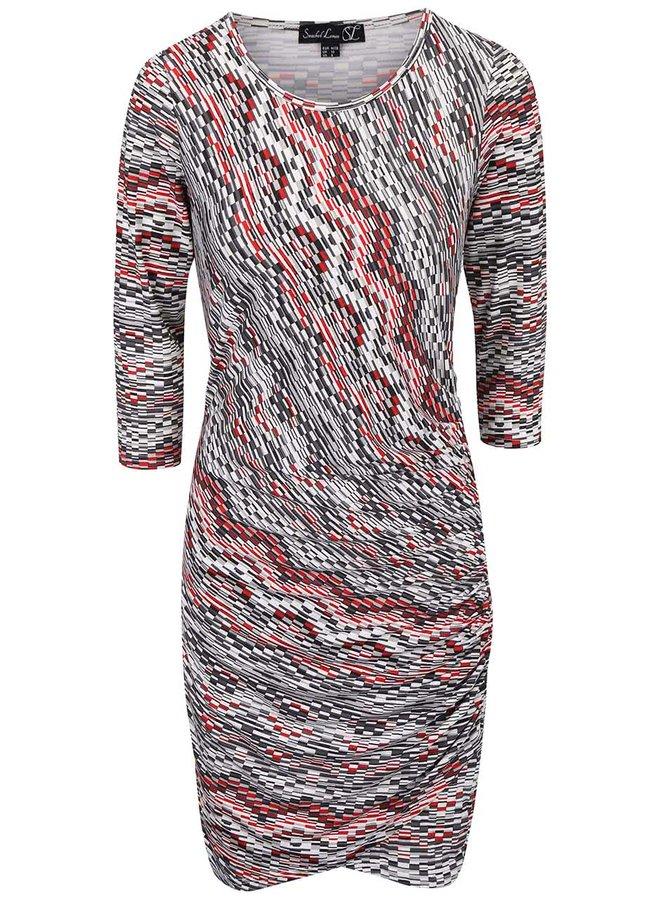 Červeno-šedé vzorované šaty Smashed Lemon