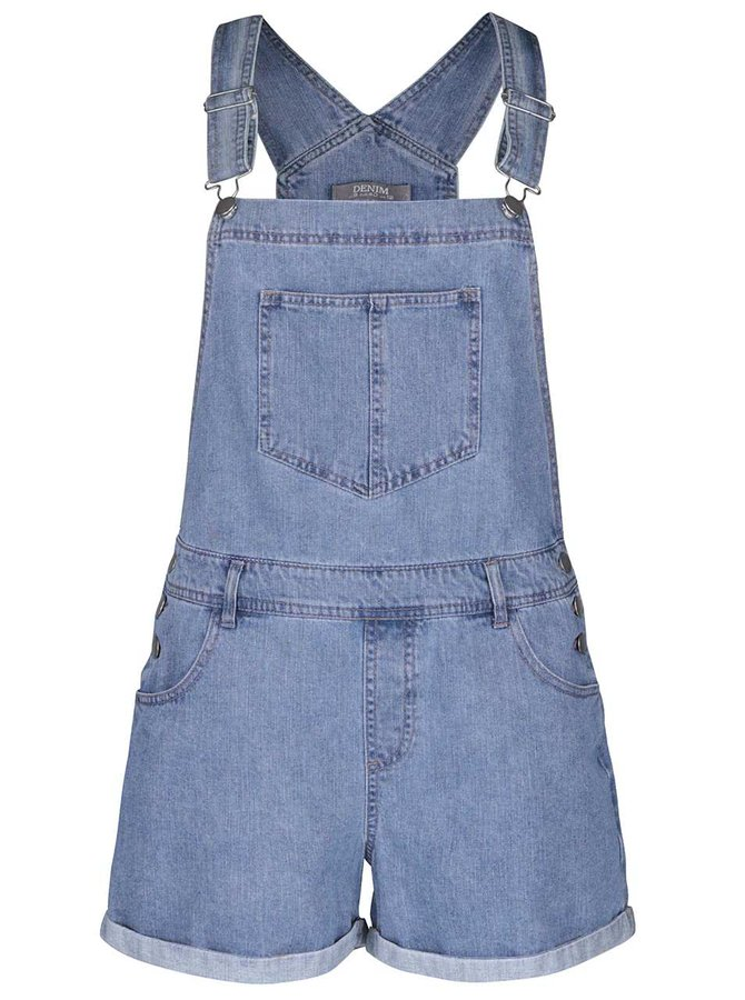 Modré rifľové šortky s trakmi Dorothy Perkins