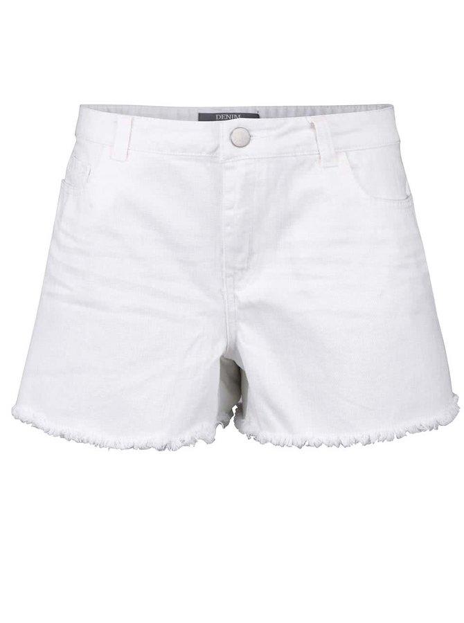 Pantaloni scurți Dorothy Perkins albi, din denim