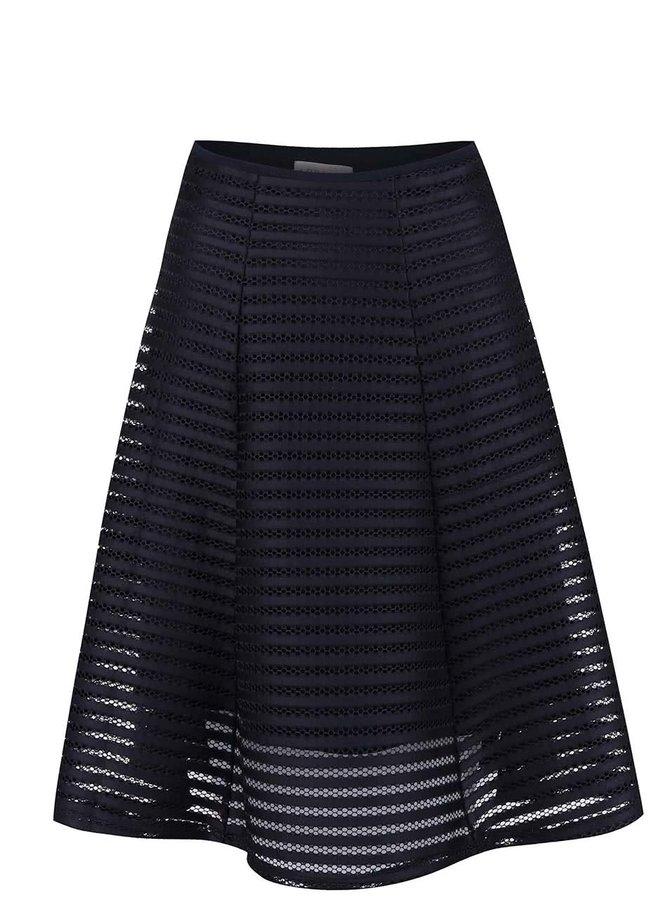 Tmavě modrá sukně ze síťované krajky Apricot