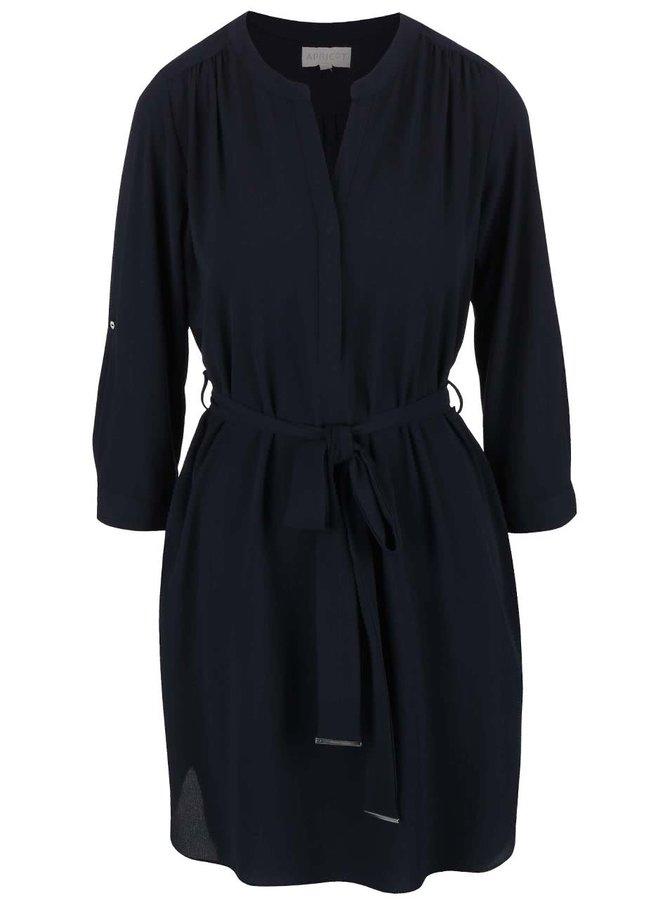 Tmavomodré šaty s opaskom Apricot
