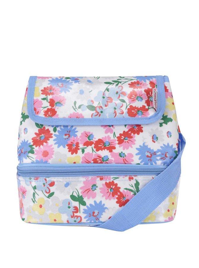 Geantă Cath Kidston albă/albastră cu model floral