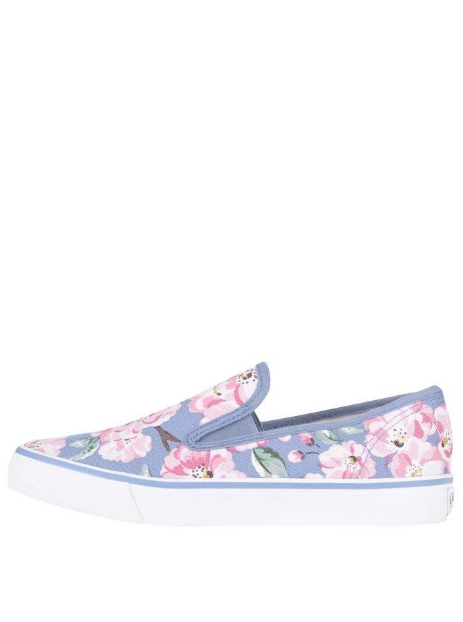 Bílo-modré slip on tenisky s květy Cath Kidston